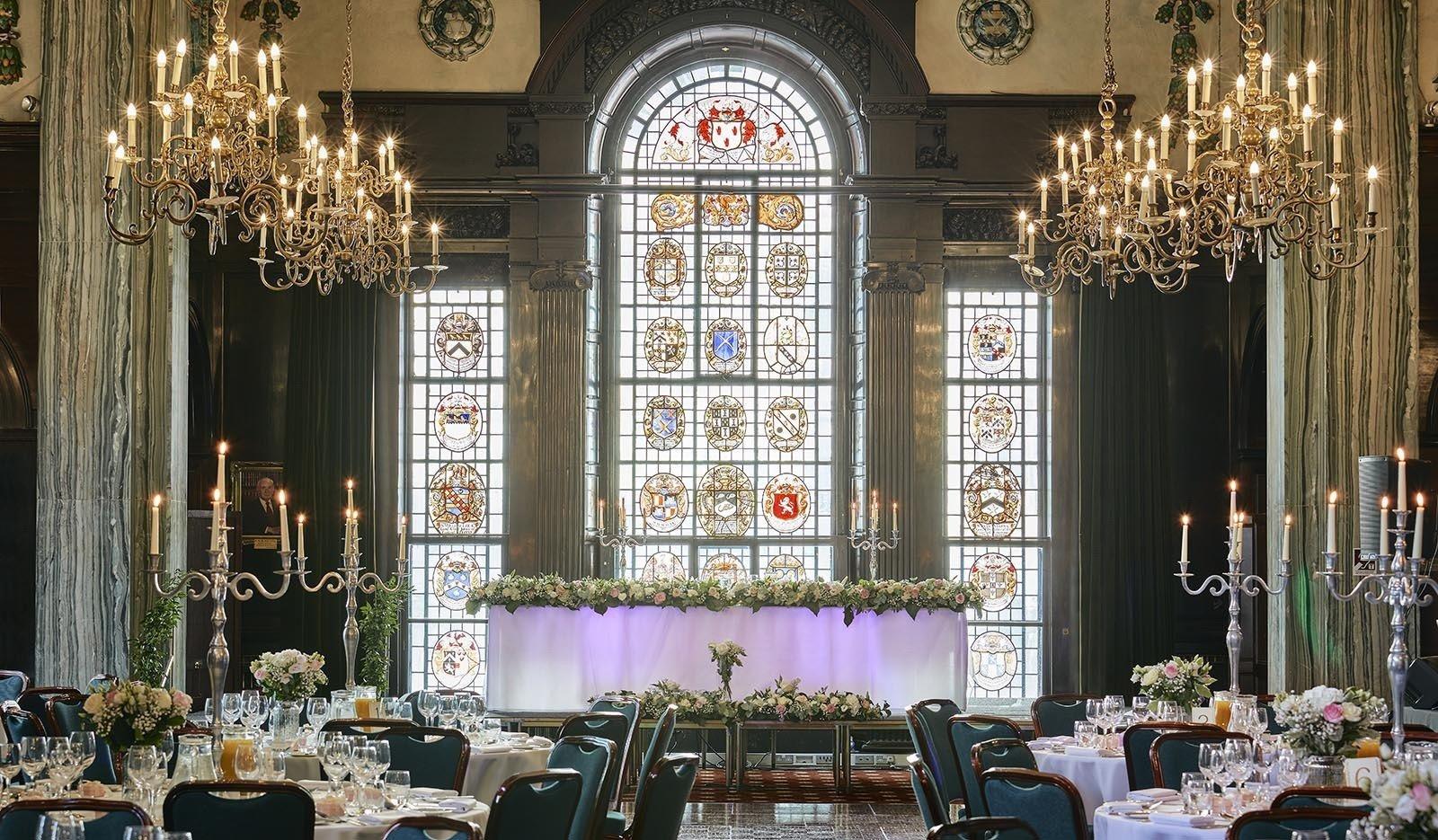 room set for a wedding