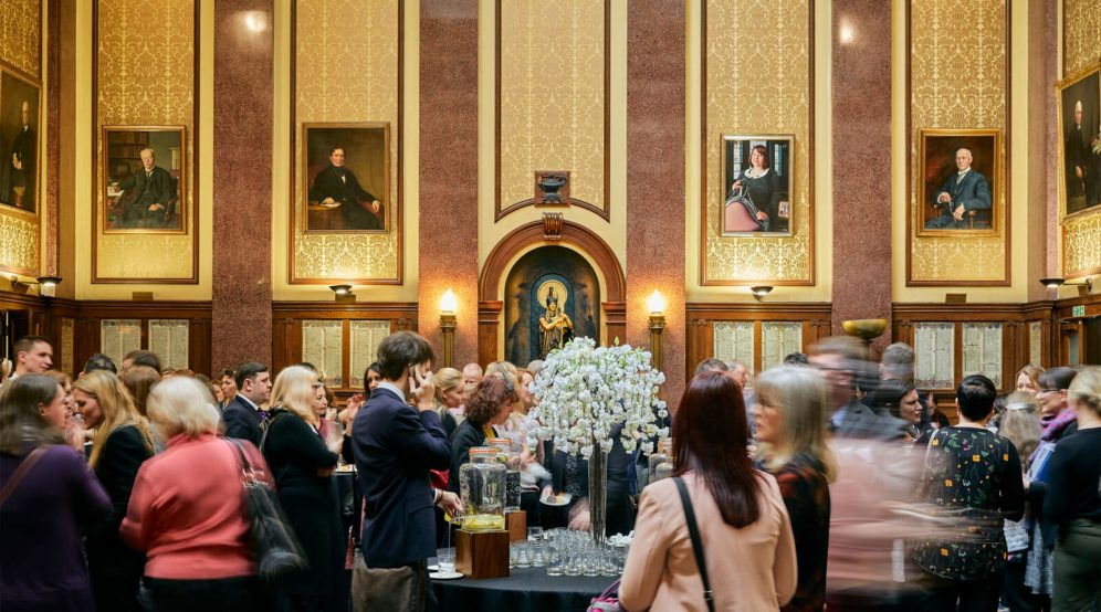 A networking event in the Reading Room at 113 Chancery Lane