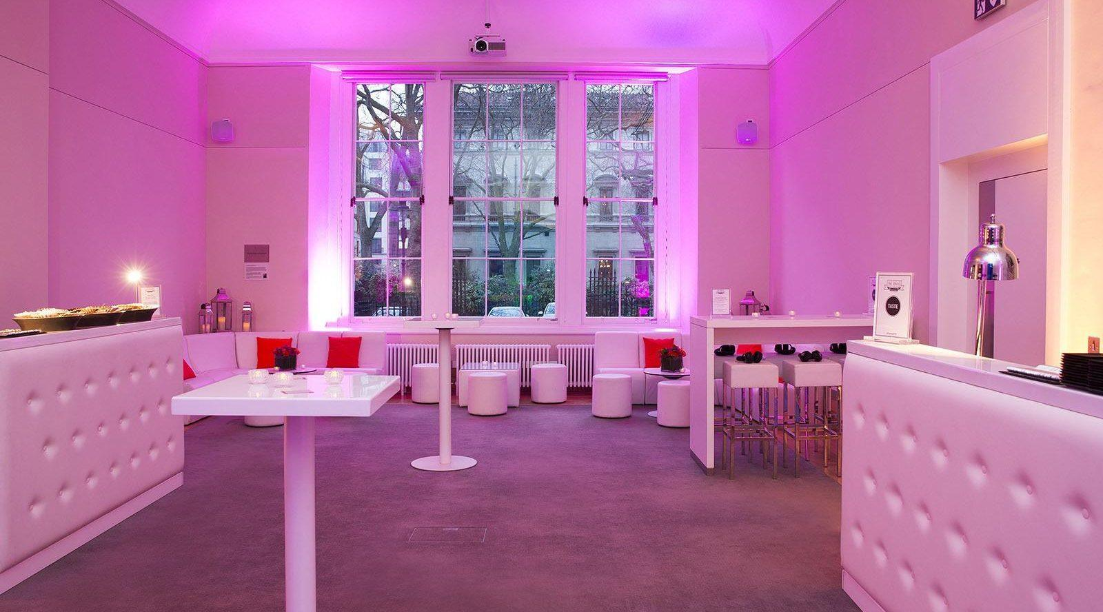interior of event space at Prince Phillip House London