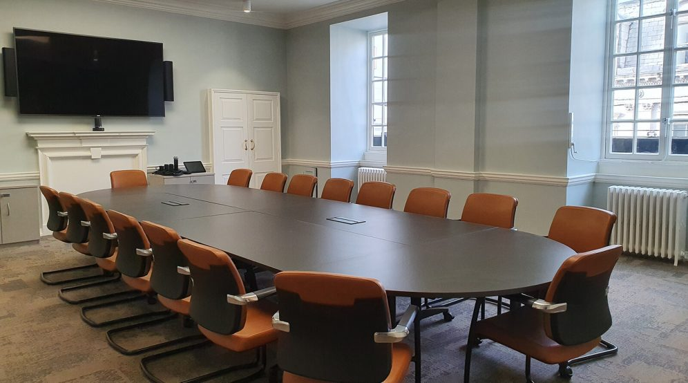 The Lincoln Room is the perfect boardroom. Equipped with video conferencing facilities. Suitable for 20 guests