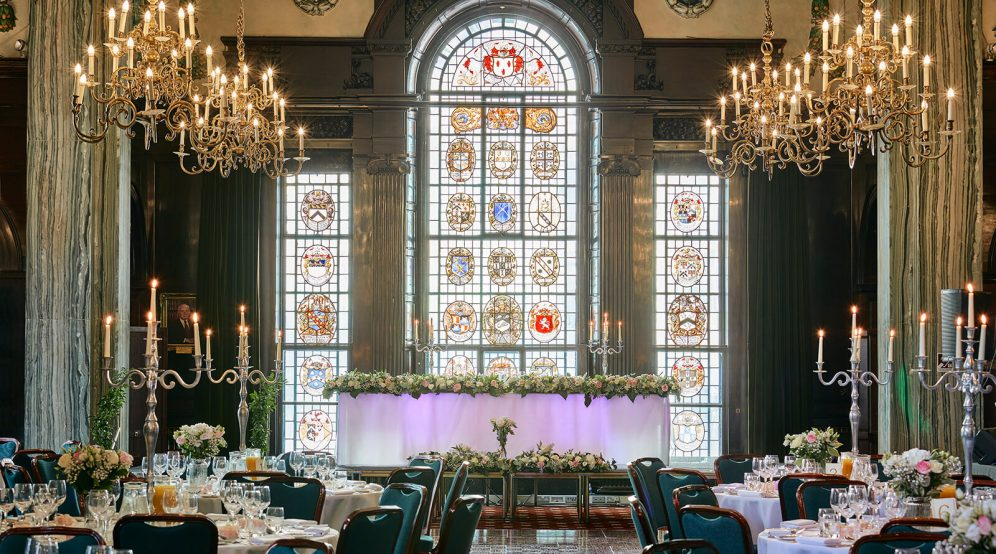 Wedding breakfast in our regal Common Room