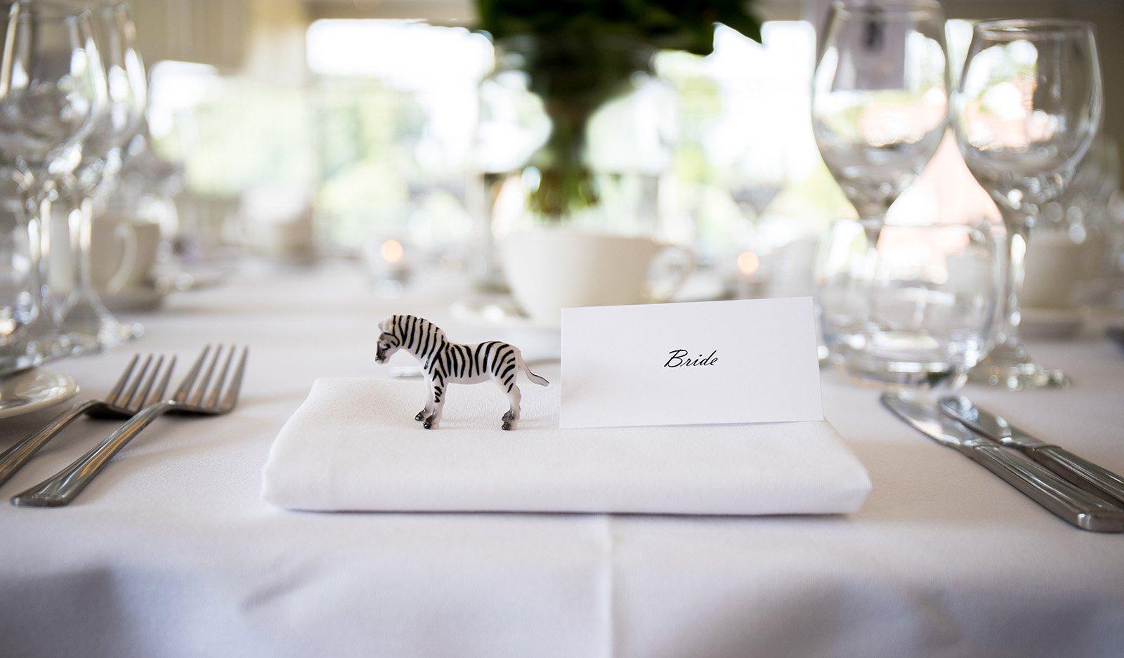 wedding table setting at London wedding venue
