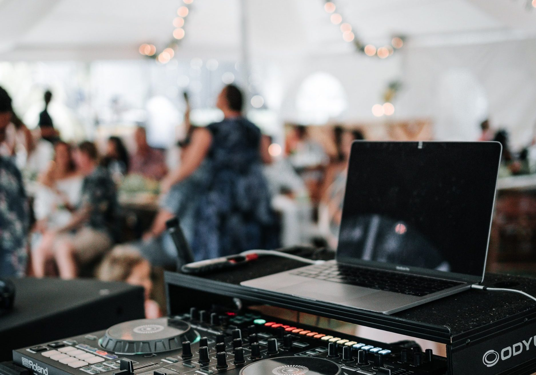 DJ set-up used as wedding entertainment